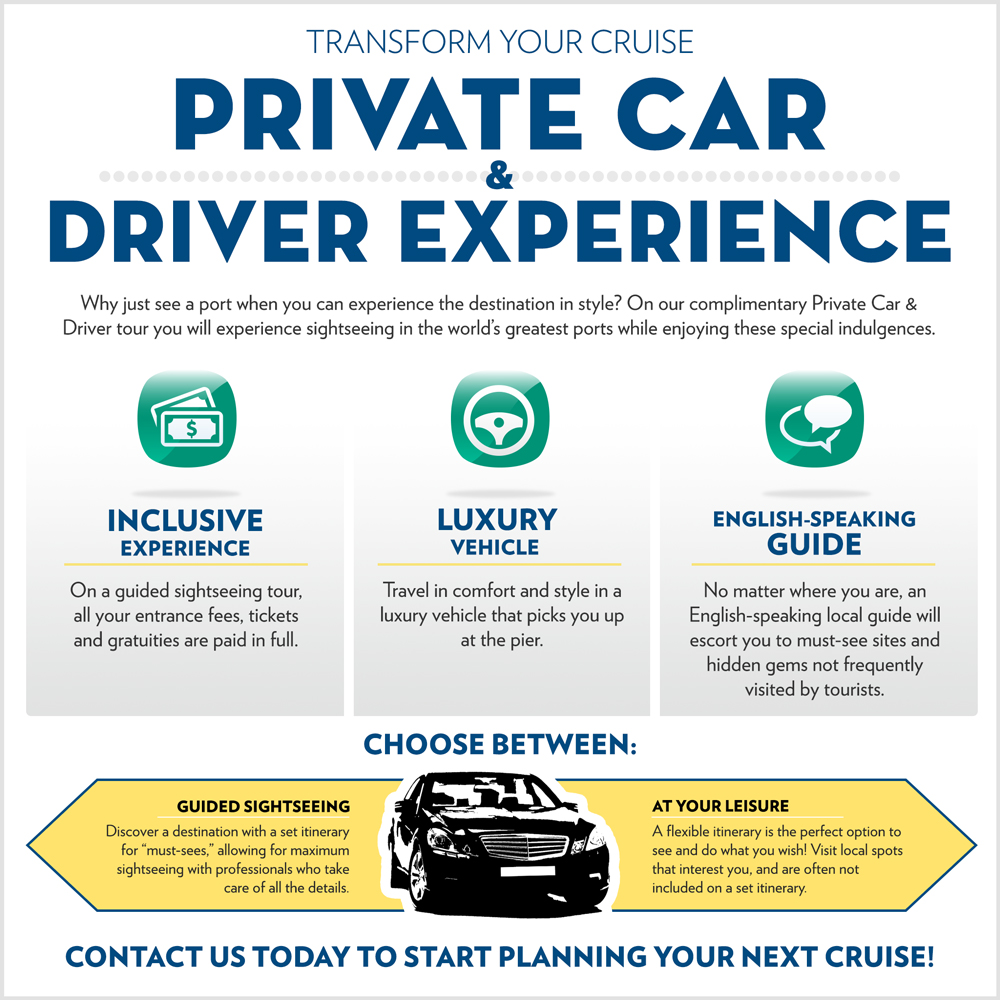 private car and driver infographic
